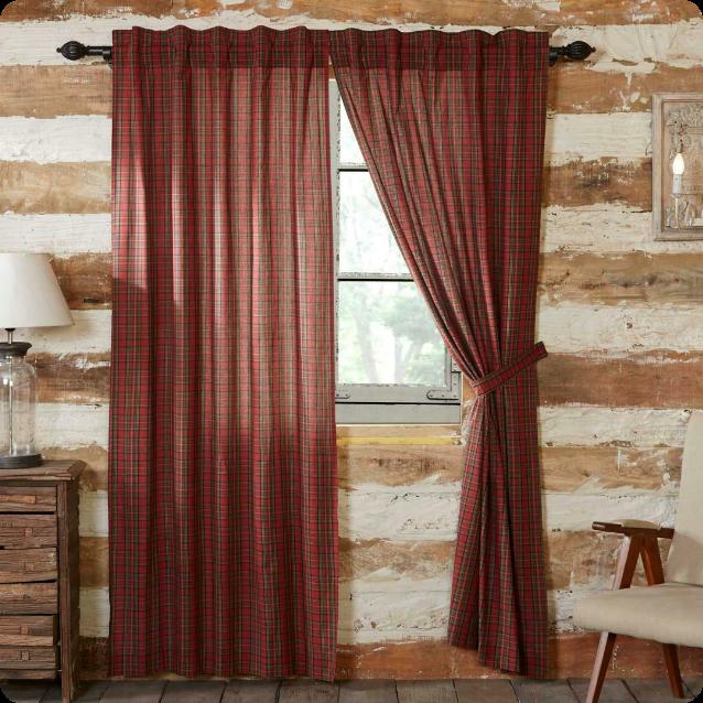 Country Curtain - Tartan Red Plaid
