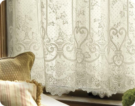 English Ivy Lace Curtain