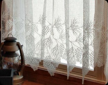 Woodland Lace Curtain