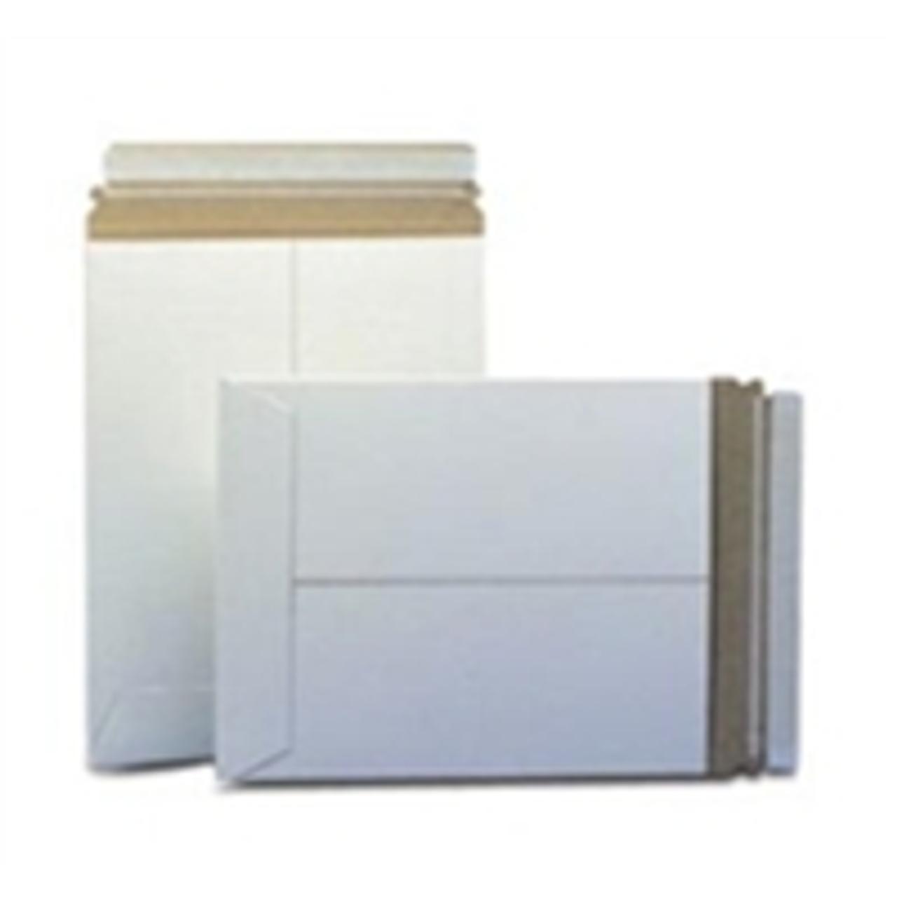 """100   9-3//4/"""" x 12-1//4/""""  White Stay flat Rigid Tab Lock Photo  Mailing Envelopes"""