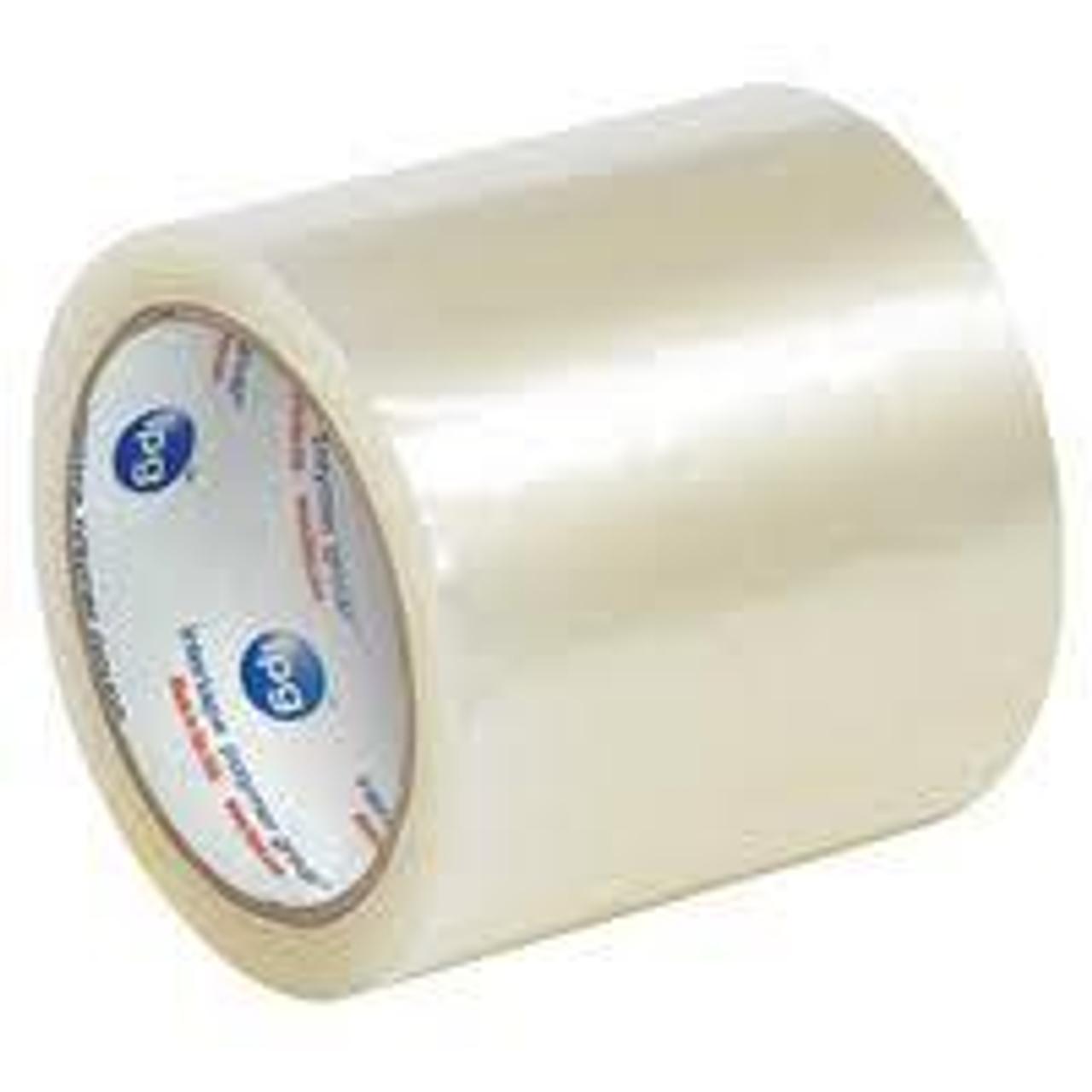 Case of 36 Rolls Primetac Premier 2 x 110 1.75 Mil Clear Acrylic Carton Sealing Tape