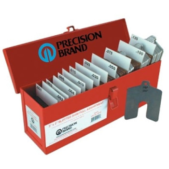 42900  PRECISION BRAND  SIZE A 2X2 ASSORTED SLOTTED SHIMS 20PC  605-42900