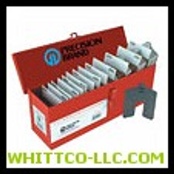 SIZE B 3X3 ASSORTED SLOTTED SHIMS|42910|605-42910|WHITCO Industiral Supplies