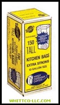 13GAL 1.25 MIL 24X30 TRASH BAGS   Sold O  795-FB13-150