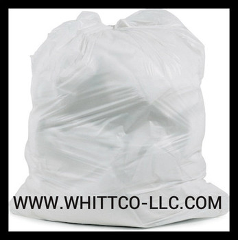 SL3339XHW-2 White trash bags - can liners - WHITTCO Industrial supplies