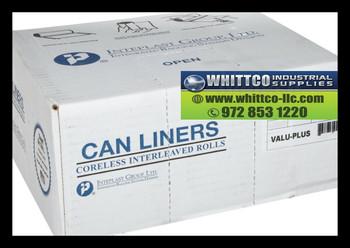 VALH4348N12 valu plus inteplast can liners WHITTCO Industrial supplies
