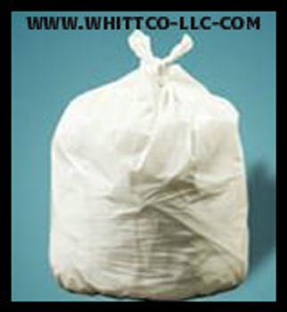 33 gallon natural can liners . 7 mil 150 bags per case Revolution bag company