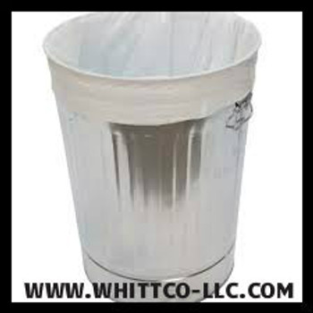 White trash bags - can liners - WHITTCO Industrial supplies L33397WR