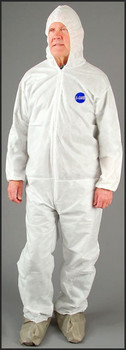 Coverall with hood a E8414C-4XL