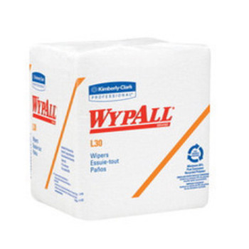 "Kimberly-Clark 12.5"" X 13"" White WYPALL L30 Quarter-Fold Wipers (90 Per Package, 12 Packages Per Case)   Sold  in Increments (UOM)  PK Min. quantity of 1     Mfg. part# 5812"