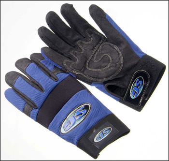 Black leather palm,  MCV20  Black leather palm anti-vibration palm blue spandex back sizes S-XXL MCV20