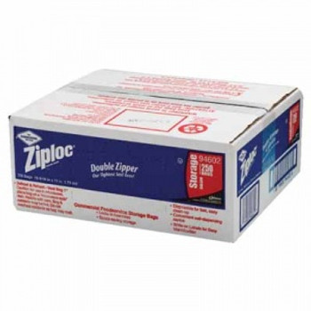 CASE/250 ZIPLOCK BAGS ONE GALLON STORAGE 1.75 ML