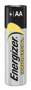 Energizer Industrial AA Alkaline Battery (Bulk)   Sold  in Increments (UOM)  EA Min. quantity of 4     Mfg. part# EN91