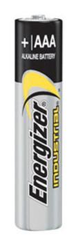 Energizer Industrial AAA Alkaline Battery (Bulk)   Sold  in Increments (UOM)  EA Min. quantity of 4     Mfg. part# EN92