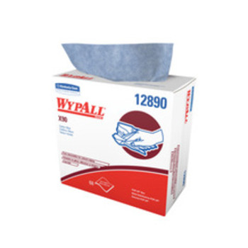 """Kimberly-Clark Professional* 8.3"""" X 16.8"""" White WypAll* X90 1/4 Fold Heavy Duty Cloth Wipers (68 Sheets Per POP-UP* Box)   Sold  in Increments (UOM)  BX Min. quantity of 1     Mfg. part# 12890"""