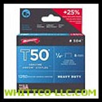 "50014 T50 1/4"" STAPLE1250/PK .050 WIRE  091-504"