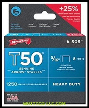 """50516 T50 5/16"""" STAPLES1250/PK .050 WIRE
