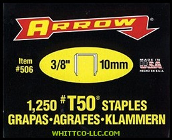 """50038 T50 3/8"""" STAPLES1-1250/PK .050