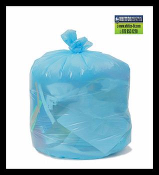 PCSJXHBU Blue Slim Jim can liners 28x45 .70 mil Environmentally Preferred Can Liners