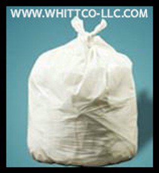 PC32XHW WHITE 24x32 .75 mil can liners 250 bags  Environmentally Preferred Can Liners