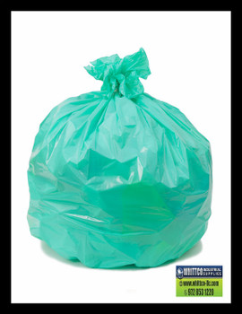 PC47180GN GREEN 43x47 1.6 mil can liners 100 bags SH duty Environmentally Preferred Can Liners