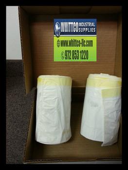 15 Gallon White Drawstring bags heavy duty 1.0 mil (IBS-CPR015-WB