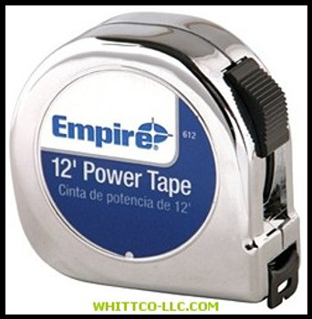 """5/8""""X12' POWER TAPE W/BLACK CASE