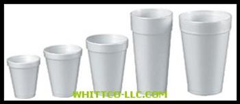 CASE/1000 DART 8 OZ FOAM CUP|8J8|209-8J8|WHITCO Industiral Supplies
