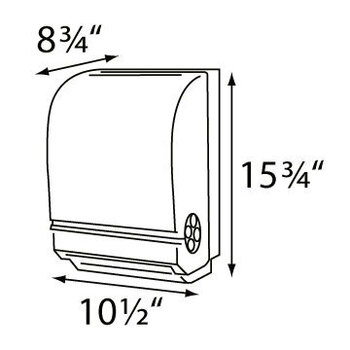 "Mechanical Auto-Cut Roll Towel 1.5"" Core  COLOR Dark Translucent"