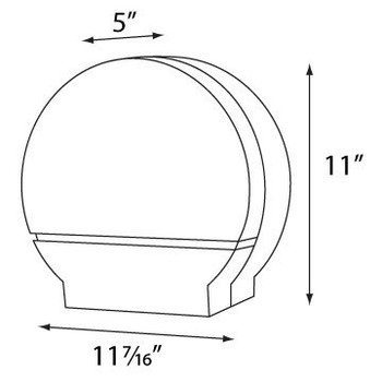 "Single 9"" Jumbo Tissue Dispenser w/ 3 3/8"" core only  COLOR Black Translucent"