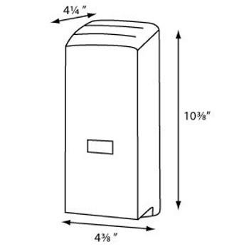 Electronic Touchless Bulk Cartridge Soap - Impact Resistant Plastic  COLOR White