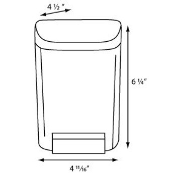 30oz Bulk Soap Dispenser  COLOR Dark Translucent