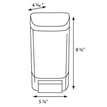 46oz Bulk Soap Dispenser  COLOR Dark Translucent