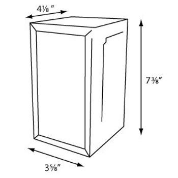 Tabletop Tall Fold Napkin Dispenser  COLOR Brushed Steel
