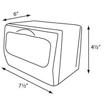 Tabletop Mini Fold Napkin Dispenser  COLOR Brushed Steel