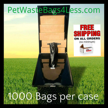 Dog Waste Bags fits Dogipot1402 & all box style disp. (PWB1000R)