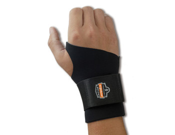 WORK WEAR 670-Ambidextrous Single Strap Wrist Support  : L : Black
