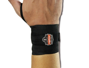 WORK WEAR 420-Wrist Wrap w/Thumb Loop  : S/M : Black