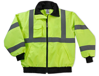 WORK WEAR 8379-CP-Class 3 Econo Bomber Jacket Case Pack  : L : Lime