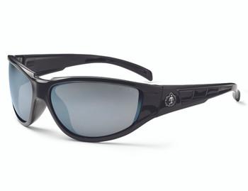 WORK WEAR Njord-Safety Glasses  : Slvr Mir Lens : Black