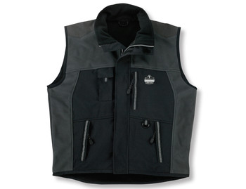 WORK WEAR 6463-Outer Layer Thermal Weight Vest  : M : Black