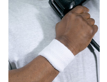 WORK WEAR 6500-Wrist Sweatband  :  : White