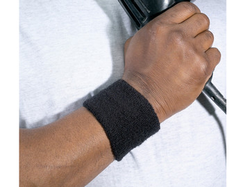WORK WEAR 6500-Wrist Sweatband  :  : Black
