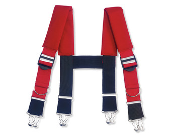 "WORK WEAR GB5092-Suspenders-Quick Adj  : 30"" : Red"