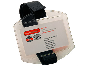 WORK WEAR 3386-Arm Band ID/Badge Holder  :  : Black