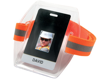 WORK WEAR 3386HV-Arm Band ID/Badge Holder HV  :  : Hi-Vis Orange