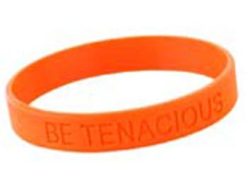 WORK WEAR WRISTBAND-Be Tenacious Wristband  : Adult : Orange