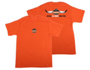 WORK WEAR TSHIRT-NB-All Horns No Bull T-Shirt  : LG : Orange