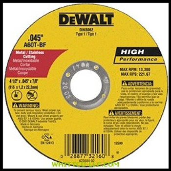 """4-1/2""""X.045""""X7/8"""" METALTHINCUT-OFF WHEEL TYPE-1