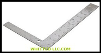 "8""X12"" CARPENTERS FRAMING SQUARE STEEL W/BLA